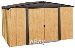 Arrow Woodlake Hangar Pour Bâtiment De Stockage En Acier De 10 Pi X 8 Pi Avec Kit De Plancher Extérieur
