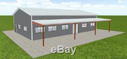 Bâtiment Acier 36x60 Simpson Construction Métallique Kit Garage Atelier Grange