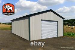 Bâtiment De Garage En Métal 18' X 21' X 9