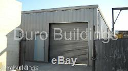 Bâtiment Durobeam Acier 25x40x16 Métal Garage Kit Atelier Grange Structure Direct