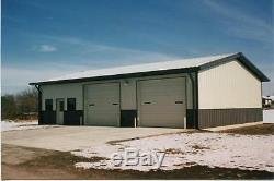 Bâtiment En Acier 50x80x16 Simpson All Galvalume Magasin De Stockage De Garage Bâtiment Métallique