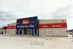 Bâtiment Rouge Durobeam Acier 75x96x24 Métal Fer Modulaire Préfabriqué Kit Direct