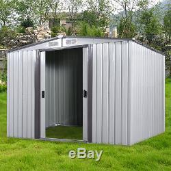 Bricolage Cour Arrière De Jardin En Métal Shed Kit De Rangement Portes De Construction En Acier Extérieur 3 Taille