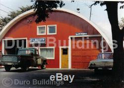 Construction Durospan Acier 51x52x17 Métal Kit De Bricolage Quonset Hut Accueil Ouvrir Ends Direct