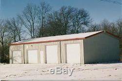 Construction En Acier 24x35x12 Kit Simpson Métal Garage Atelier Structure Préfabriquée