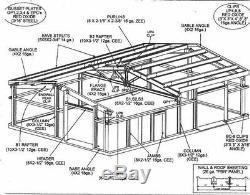 Construction En Acier 36x48x12 Kit Métal Garage Atelier Structure Préfabriquée