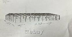 Construction Métallique Utilisé Armature En Acier. 147' X 226' Large Long. Effacer Span 147