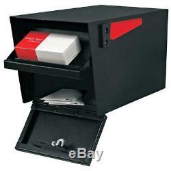 Courrier Patron De Boîte Aux Lettres Noire Parcel Post-gestionnaire De Verrouillage De Montage Serrure Haute Sécurité