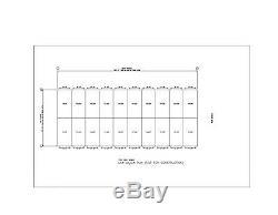 Duro Acier Mini Libre Entreposage 40x100x9.5 Structures Métalliques De Construction Prefab Directs