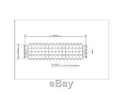 Duro Acier Mini Libre Entreposage 40x180x8.5 Structures Métalliques De Construction Modulaire Directs
