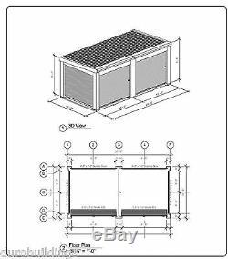 Duro Acier Prefab Portable Construction Métallique De Stockage Kit Structure Direct