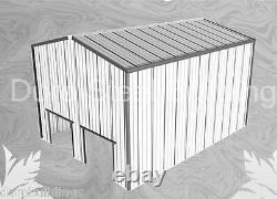 Durobeam Acier 30'x40'x22' Metal I-beam Barn Building Machine Shed Kit Direct