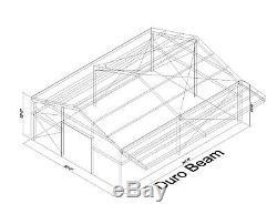 Durobeam Acier 30x40x12 Construction Métallique Avec 8' Autoportants Canopy Direct
