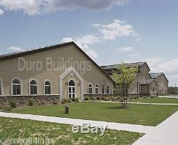 Durobeam Acier 65'x125'x20 Bâtiments En Métal Fabriqués Sur Commande Eglise Structures Directs