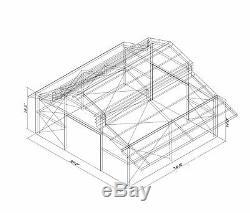 Durobeam Steel 36x34x14 Moniteur En Métal De Style Bâtiment - Extensions Coulées Direct