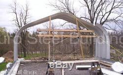 Durospan Acier 16x16x12 Bâtiment Métallique Bricolage Carport Kit Open Ends Usine Direct