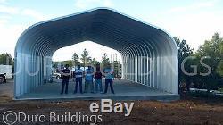 Durospan Acier 16x16x12 Bâtiment Métallique Bricolage Carport Kit Ouvert Extrémités Usine
