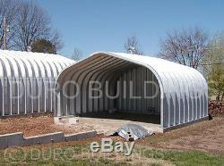 Durospan Acier 25x20x12 Bâtiments En Métal Carport Garage Ouvert Se Termine Le Factory Direct