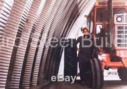 Durospan Acier 40x100x18 Métal Quonset Hut Bricolage Ag Kit De Construction Ouvrir Ends Direct