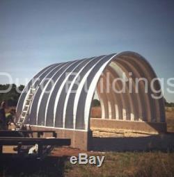 Durospan Acier 40x60x16 Construction Métallique Quonset Barn Kit Extrémités Ouvertes Direct Usine