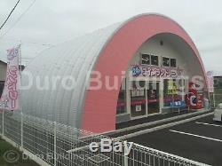 Durospan Acier 44x44x16 Métal Quonset Hut Bricolage Home Kit De Construction Extrémités Ouvertes Direct