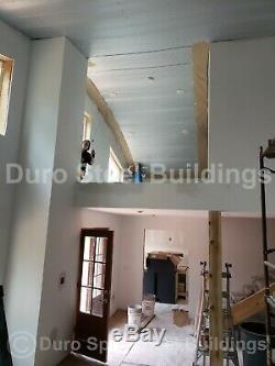 Durospan Acier 55x38x19 Métal Quonset Maisons Bricolage Kits De Construction Ouvrir Ends Direct