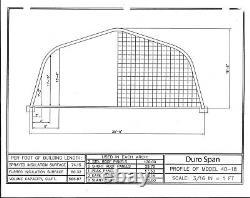 Durospan Construction Métallique En Acier 40'x100'x18' Kits Usine Plus De Stock Vente Directe