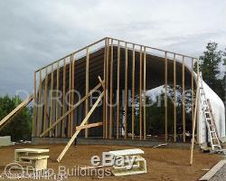 Durospan Kit De Construction De Toit À Pignon Métallique En Acier 25x30x13 À Extrémité Ouverte Usine Direct
