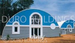 Durospan Steel 30'x33'x14' Metal Quonset Diy Home Building Kit Open Ends Direct