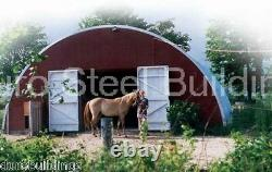 Durospan Steel 30x30x14 Metal Quonset Barn Building Kit Open Ends Factory Direct