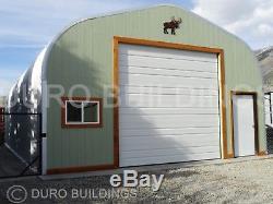 Durospan Steel 30x34x14 Metal Garage Shop Kit De Construction Domiciliaire À Extrémité Ouverte DI Fins