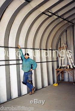 Durospan Steel 30x42x16 Kit De Remise De Garage Pour Bâtiment En Métal, Extrémités Ouvertes Usine Direct