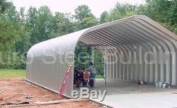 Durospan Steel 32x32x18 Metal Building Bricolage Maison Boutique Garage Kit Open Ends Direct