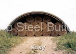 Durospan Steel 40'x40'x16' Metal Hay Barn Building Kits Open Ends Factory Direct