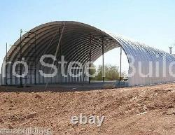 Durospan Steel 40x50x16 Metal Building Kit Pitch - Batting Cage Open Ends Direct
