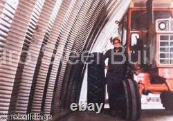 Durospan Steel 42x20x17 Metal Arch Quonset Building Kit Open Ends Factory Direct