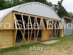 Durospan Steel 42x30x17 Metal Quonset Building Home Kit Open Ends Factory Direct