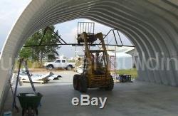 Durospan Steel A40x62x18 Metal Arch Ag Building Kit De Bricolage Aux Extrémités Ouvertes Usine Direct