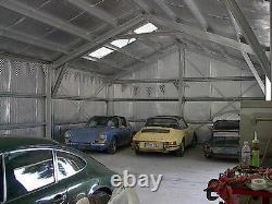 En Acier Galvanisé Insulé Bâtiment De Bâtiment De Métaux De Garage De 3 Cars