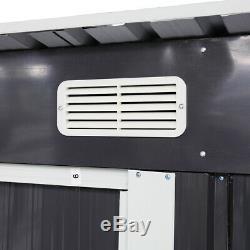 Extérieur 4 'x 6' Kit De Stockage De Jardin Hangar En Acier De Portes De Bâtiment En Métal D'arrière-cour De Diy