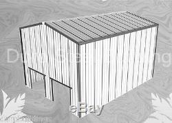 Fer Rouge Métal Grange Machine Durobeam Acier 30'x40'x22' Shed Kit De Construction Direct