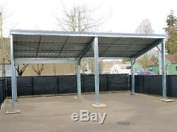 Galvanisé Acier Carport Ou Pavillon-20 X 60 X 8 Kit De Construction En Métal-livré