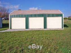 Galvanisé Acier Isolé 2 Ou 3-car Garage Metal Building Boutique Kit