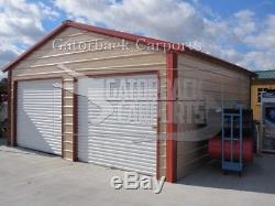 Garage En Métal, Bâtiment En Acier, Livraison Et Installation Gratuite 20x21 À L'échelle Nationale