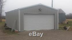 Garage / Kit De Construction En Acier 24'x36'x12 'excel Metal Building Systems Inc