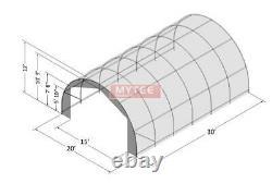 Hay Storage Building Shelter Tente 20' X 30' Heavy Duty Fabric Galvanized Steel