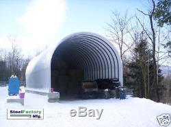 Kit De Construction De Garage Préfabriqué En Acier Pour Bâtiment De Stockage En Arc Métallique Mfg S30x30x14
