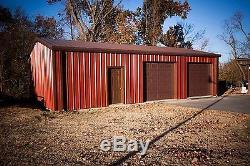Kit De Construction Garage / Atelier En Acier 24'x30'x12 'excel Metal Building Systems Inc