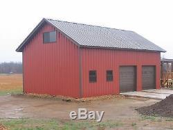 Kit De Construction Pour Garage / Atelier En Acier De 24'x27'x10 'excel Metal Building Systems Inc