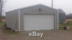 Kit De Construction Pour Garage / Atelier En Acier De 24'x30'x12 'excel Metal Building Systems Inc